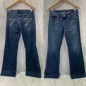 7 for all Mankind Dojo wide leg flare jeans 30
